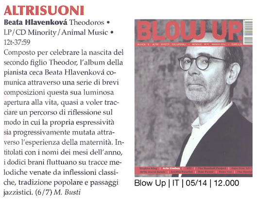Review – Theodoros – Altrusioni magazine (Italian)