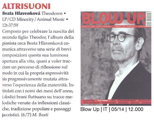 Recenze – Theodoros – magazín Altrusioni (italsky)