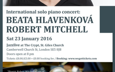 International solo piano concert featuring Beata Hlavenková and Robert Mitchell