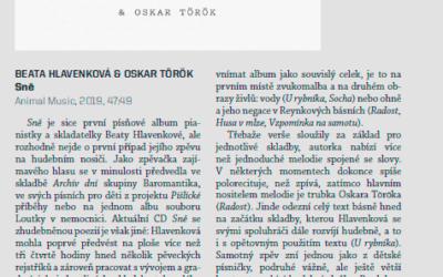 Sně – Review by Milan Tesař