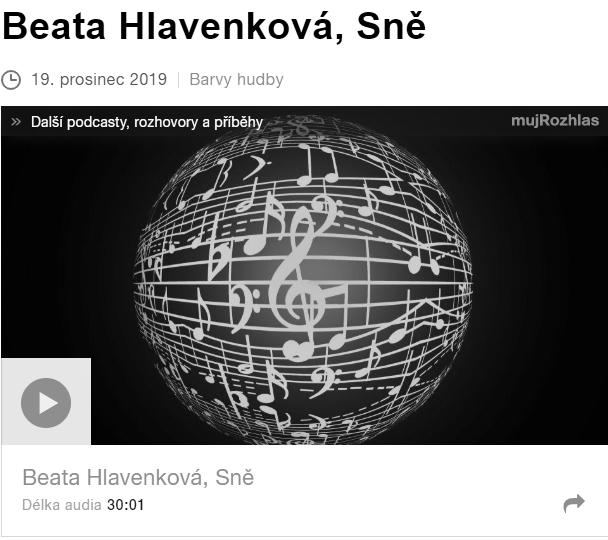 Barvy hudby by Teresa Ghose – christmas programm with Beata Hlavenková´s music